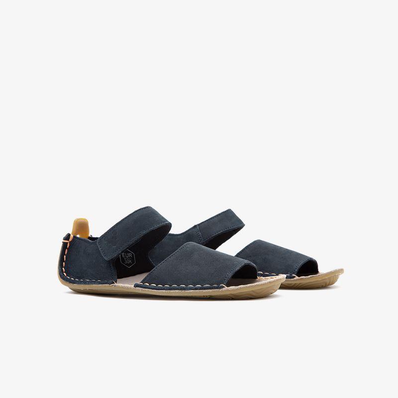 Vivobarefoot Ababa Leather SandalsKids Navy VB 100044 01