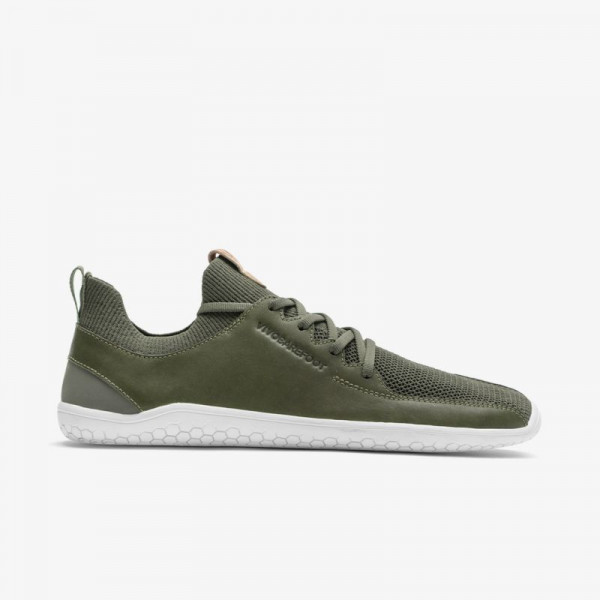 Vivobarefoot Primus Knit Mens Dusty Olive